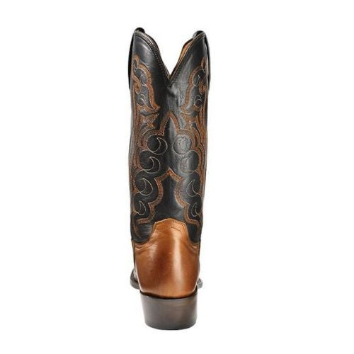 Lucchese Men's Barrell Brown Saddle Hornback Caiman Boots M2535.54 - Wild West Boot Store - 4