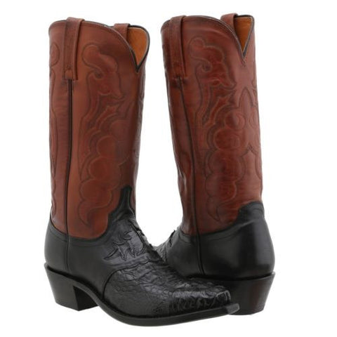 Lucchese Men's Since 1883 Saddle/Black Caiman Boot M2537.54 - Wild West Boot Store - 1
