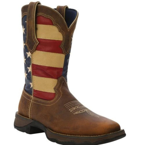 Durango Ladies Rebel Patriotic Pull On Flag Boots RD4414 - Wild West Boot Store - 1