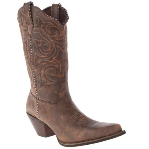Durango Ladies Brown Embroidered Boot RD5444 - Wild West Boot Store - 1