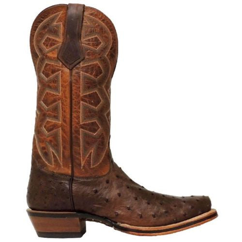 Nocona Men's Brown Sienna Full Quill Ostrich Cowboy Boots MD5103 - Wild West Boot Store - 3