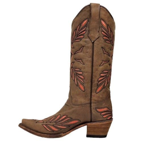 Circle G by Corral Ladies Brown Pink Diamond Cowgirl Boots L5131 - Wild West Boot Store