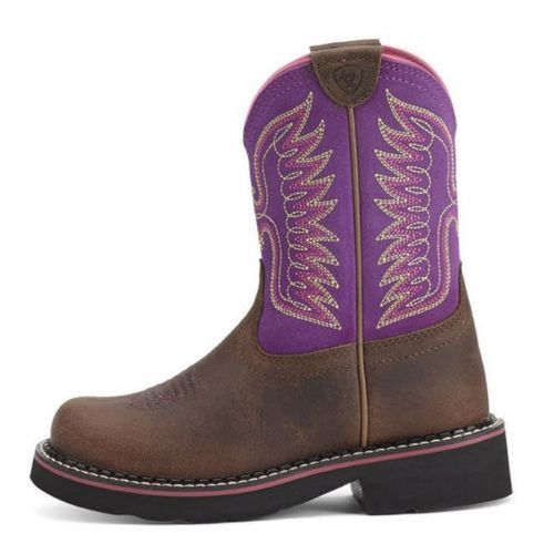 Ariat Children's Fatbaby Thunderbird Powder Brown/ Amethyst Boots 10012800 - Wild West Boot Store