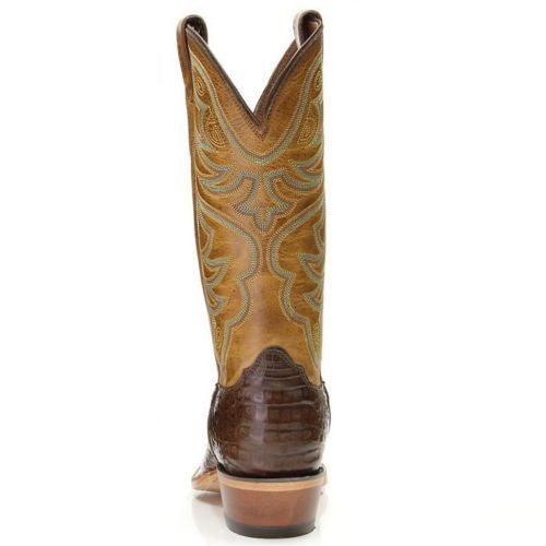 Nocona Men's Chocolate Genuine Caiman Brown Exotic Boots MD8602 - Wild West Boot Store - 3
