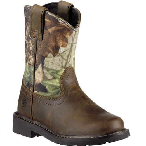 a7205800cb6 Ariat Children's Heritage Sierra Camo Pull On Western Boots 10006747