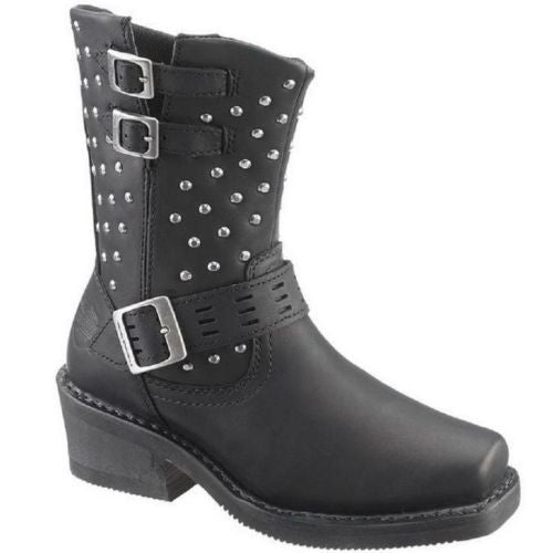 Harley Davidson Ladies Shirley Black Studded Boot D83714 - Wild West Boot Store