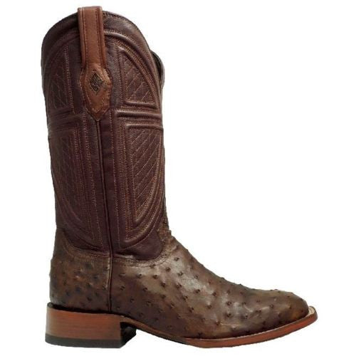 Stetson Men's Brown Full Quill Ostrich Boots 12-020-1852-0212 - Wild West Boot Store - 3