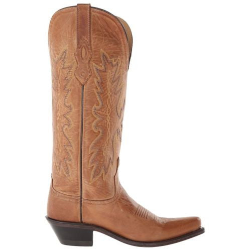 Old West Ladies Tan Embroidered Boot TS1541 - Wild West Boot Store - 3