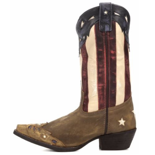 Laredo Ladies Keyes Stars and Stripes Flag Boots 52165 - Wild West Boot Store - 5
