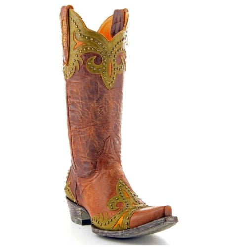 Old Gringo Taka Brass Stud Boots L814-3 - Wild West Boot Store - 1