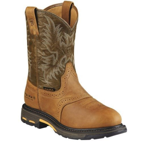 Ariat Men's WorkHog Pull-On H2O Boots Aged Bark 10008635 - Wild West Boot Store