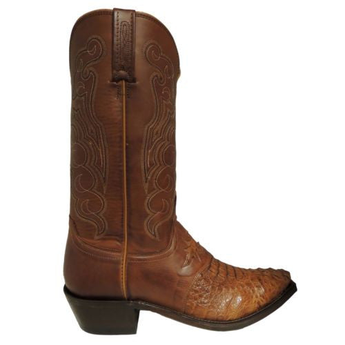 Lucchese Men's Tan Burnished Hornback Caiman Boots M2536.54 - Wild West Boot Store - 3