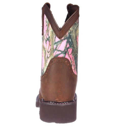 Justin Ladies Gypsy Aged Bark Pink Camo Boot L9610 - Wild West Boot Store - 4