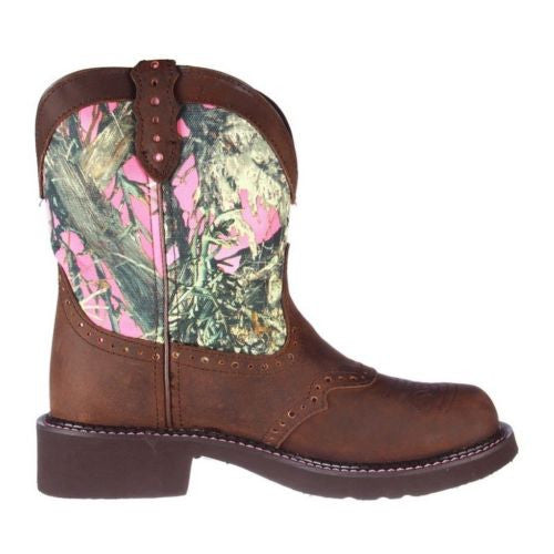 Justin Ladies Gypsy Aged Bark Pink Camo Boot L9610 - Wild West Boot Store - 3