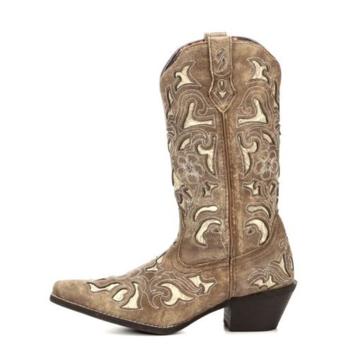 Laredo Ladies Sharona Crackle Sanded Goat Boot 52041 - Wild West Boot Store - 3