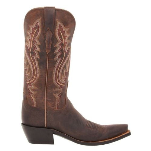 Lucchese Ladies Cassidy Chocolate Madras Goat Boots M5002.S54 - Wild West Boot Store - 3