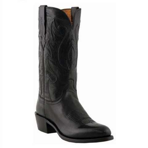 Lucchese Mens Black Cowboy Boot M1006.R4 - Wild West Boot Store - 1