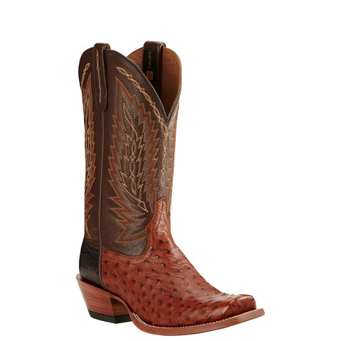 Ariat® Men's Super Stakes Brandy Full Quill Ostrich Boots 10018712 - Wild West Boot Store