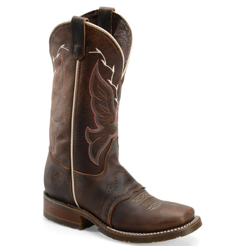 "Double H Ladies Caroline 12"" Brown Square Toe Western Boot DH5310 - Wild West Boot Store"