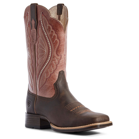 Ariat® Ladies Petal Pink and Dark Java PrimeTime Boots 10031647