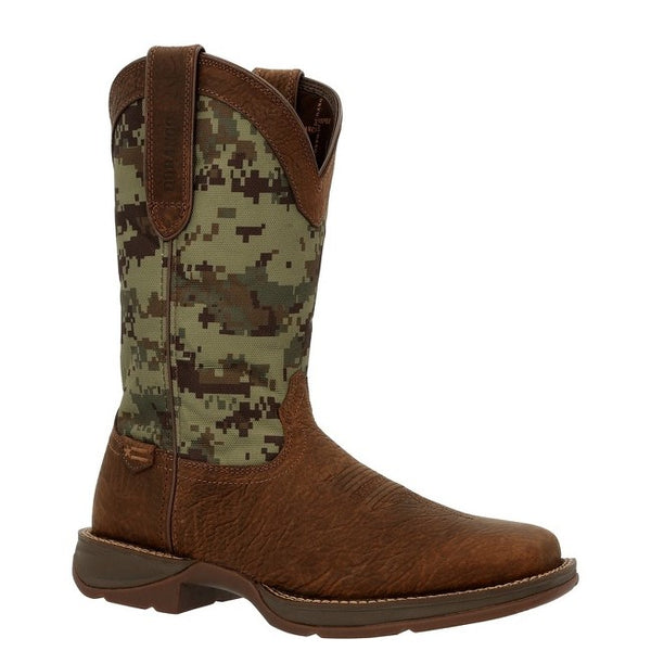 Durango Men's Rebel Green Digi Camo Square Toe Western Boots DDB0329