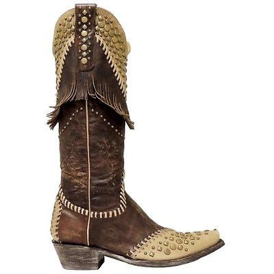 Old Gringo Ladies Brass/Bone Tableta Boot L2248-1 - Wild West Boot Store - 3