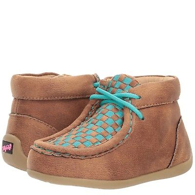 Blazin Roxx Toddler Cassidy Brown & Teal Moccasin 4411102