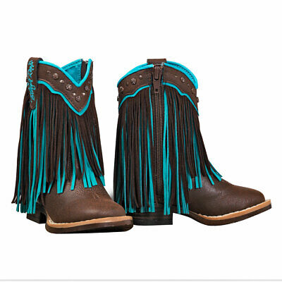 Blazin Roxx Toddler Candace Brown & Turquoise Western Boots 4418802