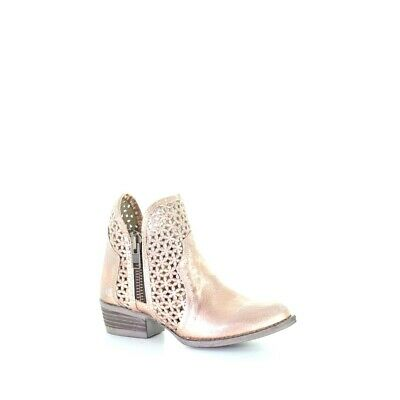 Circle G by Corral Ladies Pink Cutout Shortie Boots Q5128