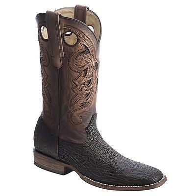 Corral Men's Exotic Brown Shark Vamp Square Toe Boots C2995 - Wild West Boot Store