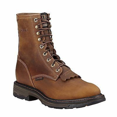 Ariat Men's Workhog Aged Bark Composite Toe Lace-Up Work Boot 10016267 - Wild West Boot Store