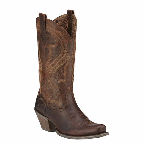 Ariat Ladies Lively Sassy Brown Boot 10016357 - Wild West Boot Store - 1