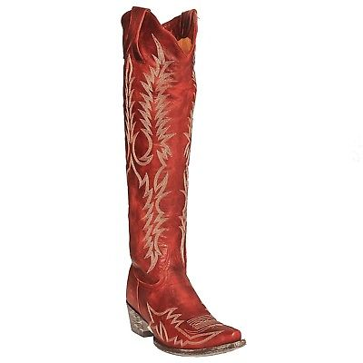 Old Gringo Ladies Marya Red Embroidered Tall Snip Toe Boots L1213-1T4L