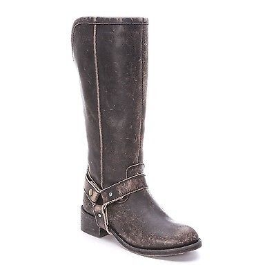 Corral Ladies Black Distressed Harness Biker Boot P5099 - Wild West Boot Store - 1