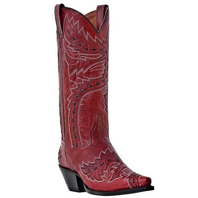 Dan Post Ladies Red Sidewinder Boots DP3455 - Wild West Boot Store - 1