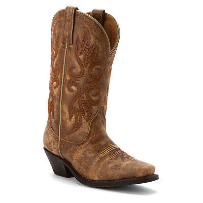 Laredo Ladies 	 Maricopa Tan Crackle Boot 51041 - Wild West Boot Store - 1
