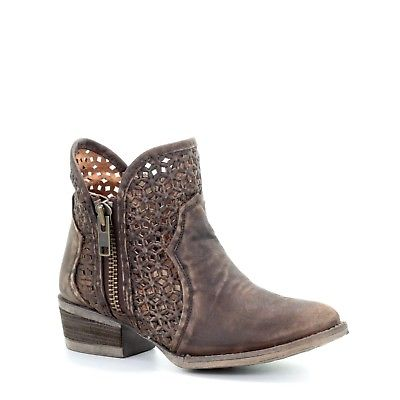Circle G by Corral Ladies Brown Cutout Shortie Boots Q5019 - Wild West Boot Store