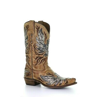 Corral Men's Honey Inlay & Embroidery Boots A3872