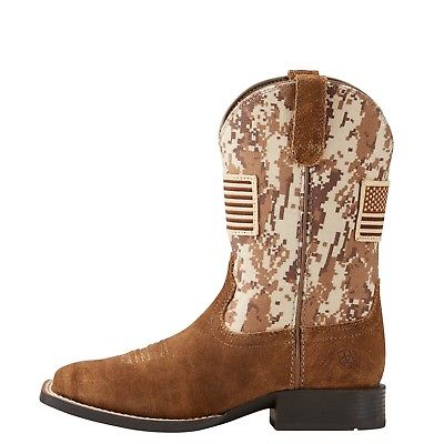 Ariat Children's Antique Mocha Suede Patriot Boots 10019913 - Wild West Boot Store
