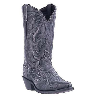 Laredo Men's Garrett Distressed Black Western Boots 68407 - Wild West Boot Store