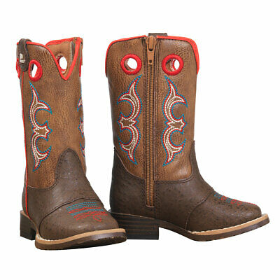 Double Barrel Toddler Kolter Zip Square Toe Western Boots 4419402