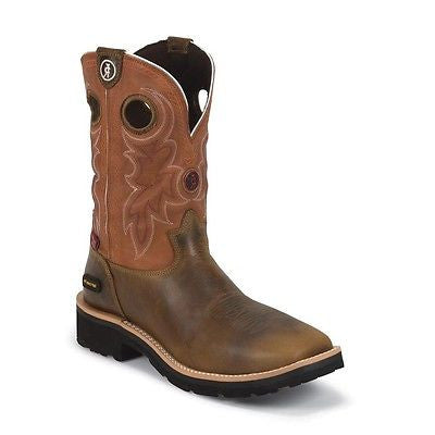 Tony Lama Men's Tan Comanche 3R Waterproof Composition Toe Work Boots RR3300 - Wild West Boot Store - 1