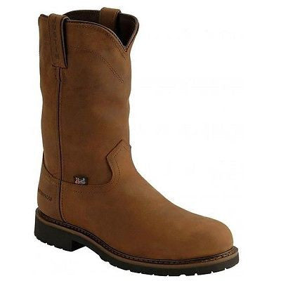 Justin Men's Wyoming Brown Steel Toe Waterproof Work Boot WK4961 - Wild West Boot Store - 1