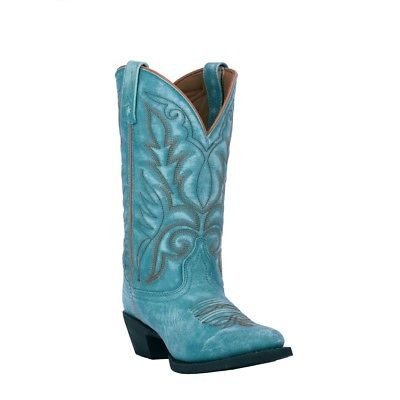 Laredo Ladies Sophia Turquoise Leather Boots 51116