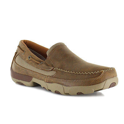 Twisted X Men's Brown Bomber Slip On Driving Mocs MDMS002 - Wild West Boot Store - 1