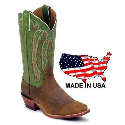 Nocona Women's Legacy Heritage Green Willow Boots LD4052 - Wild West Boot Store