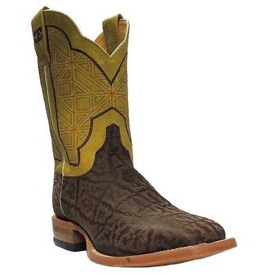 Cinch Men's Edge Elephant Print Yellow Square Toe Cowboy Boot CEM503 - Wild West Boot Store
