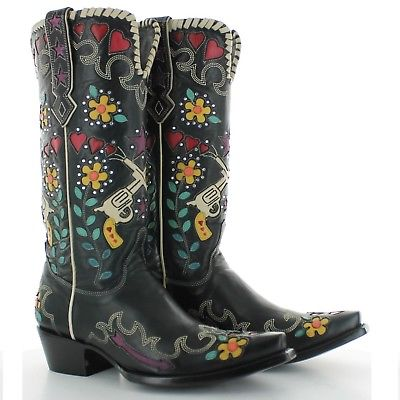 Double D Ranch Ladies Black Cowgirl Bandit Boots DDL041-1