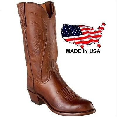 Lucchese Men's 1883 Bart Tan Burnished Ranch Hand Calf Boots N1596.R4 - Wild West Boot Store - 1