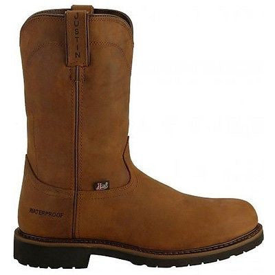 Justin Men's Wyoming Brown Steel Toe Waterproof Work Boot WK4961 - Wild West Boot Store - 3
